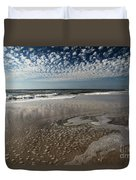 Splattered Clouds Duvet Cover by Adam Jewell