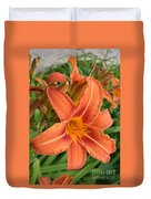 Splendid Day Lily Duvet Cover