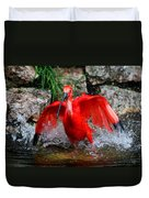 Splish Splash - Red Ibis Duvet Cover