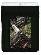 Split Rail Fence Duvet Cover