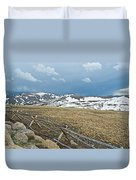 Split Rail Fence On East Side Of Trail Ridge Road In Rocky Mountain National Park-colorado Duvet Cover