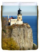 Split Rock Lighthouse Duvet Cover