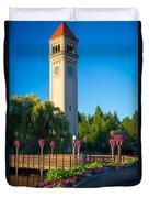 Spokane Clocktower Duvet Cover