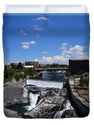 Spokane Falls And Riverfront Duvet Cover
