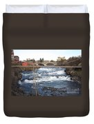 Spokane Falls In Winter Duvet Cover