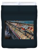 Spools At Lonaconing Silk Mill Duvet Cover