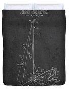 Sport Sailboat Patent From 1977 - Dark Duvet Cover