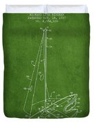 Sport Sailboat Patent From 1977 - Green Duvet Cover