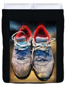 Sport Shoes Drawing Duvet Cover