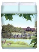 Sporting Clays At Seven Springs Mountain Resort Duvet Cover