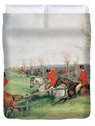 Sporting Scene, 19th Century Duvet Cover