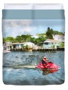 Sports - Man On Jet Ski Duvet Cover