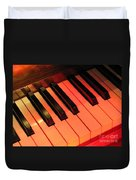 Spotlight On Piano Duvet Cover