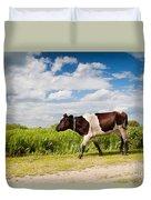 Calf Walking In Natural Landscape  Duvet Cover