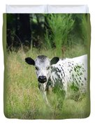 Spotted Cow In The Forest Duvet Cover