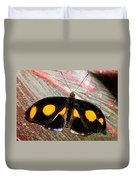 Spotted Grecian Shoemaker Butterfly Duvet Cover