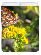 Spotted Gulf Fritillary Duvet Cover
