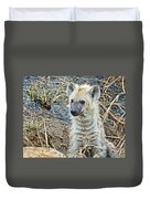 Spotted Hyena Pup In Kruger National Park-south Africa  Duvet Cover