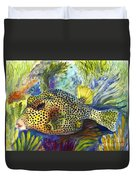 Spotted Trunkfish Duvet Cover