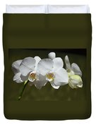 Spray Of Beautiful White Orchids Duvet Cover