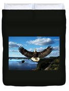 Spread Eagle  Mississippi River Duvet Cover