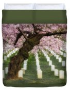 Spring Arives At Arlington National Cemetery Duvet Cover by Susan Candelario