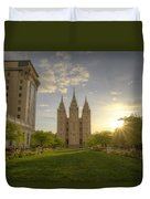 Spring At Temple Square Duvet Cover