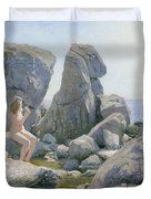 Spring At The Rock Shore  Duvet Cover