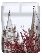 Spring At The Temple Duvet Cover