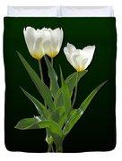 Spring - Backlit White Tulips Duvet Cover