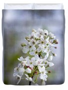 Spring Blooming Bradford Pear Blossoms Duvet Cover