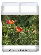 Spring Blooms In Colorado Duvet Cover