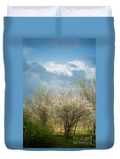 Spring Blossoms Storm Approaching Duvet Cover