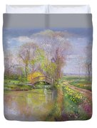 Spring Bridge Duvet Cover