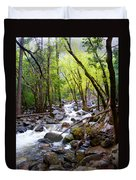Spring Cascade Of Water From Bridal Veil Falls In Yosemite Np-2013 Duvet Cover