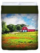 Spring Charm In The Hill Country Duvet Cover
