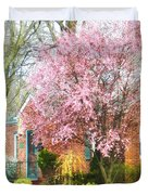 Spring - Cherry Tree By Brick House Duvet Cover