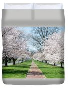 Spring Cherry Trees Duvet Cover