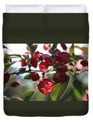 Spring Crabapple Blossom Duvet Cover