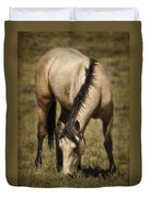 Spring Creek Basin Wild Horse Grazing Duvet Cover