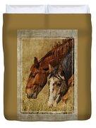 Spring Creek Basin Wild Horses Duvet Cover