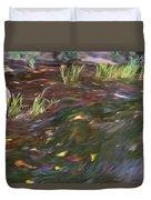 Spring Creek In Oak Canyon Park Duvet Cover