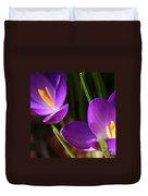 Spring Crocus Pair  Duvet Cover
