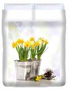 Spring Daffodils Duvet Cover by Amanda Elwell
