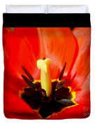 Red Tulip In Spring Duvet Cover