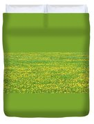 Spring Farm Panorama With Dandelion Bloom In Maine Canvas Poster Print Duvet Cover