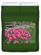 Spring Fence Landscape Art Prints Duvet Cover