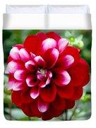 Red Spring Flower Duvet Cover