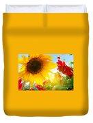 Spring Flowers In The Garden Duvet Cover