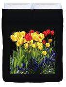 Spring Garden Sunshine Square Duvet Cover
